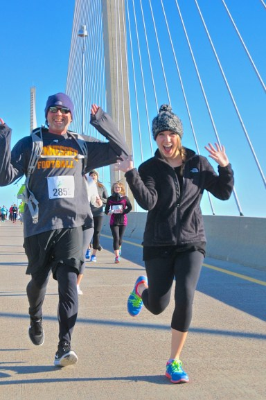Runners on Sidney Lanier Bridge