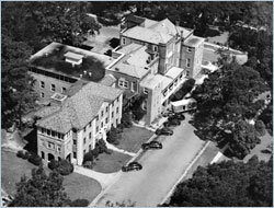 Aerial shot of Brunswick and Seaman's Hospital that opened in 1888