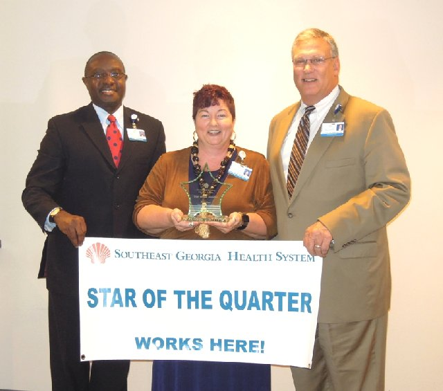 Teri Ward Receiving Star of the Quarter