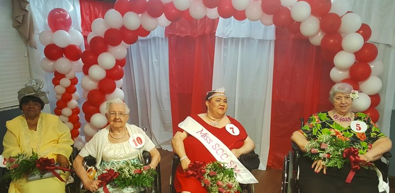 Ms. Senior Care Center-St. Marys pageant finalists