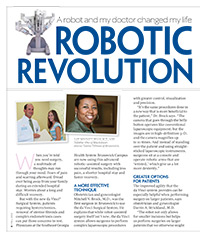 A robot and my doctor changed my life Robotic Revolution Article button