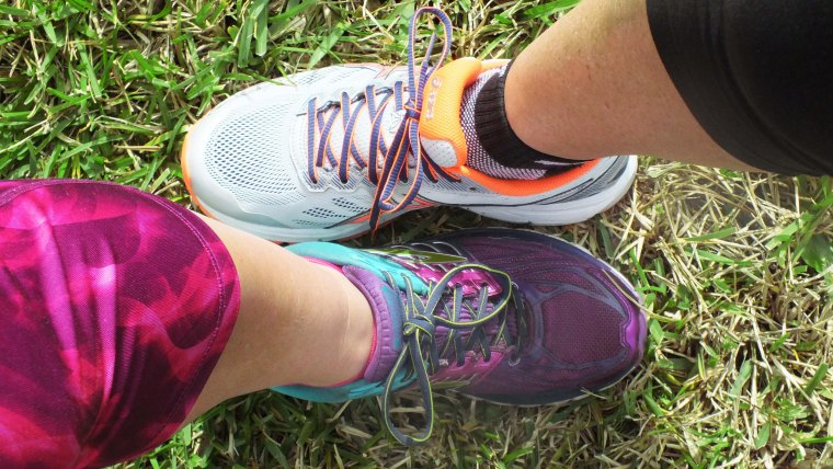 Consider the shape of your foot when buying running shoes.