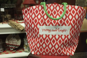 """Merry and Bright"" bag"