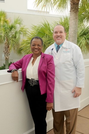 Cynthia Lampkin and her doctor