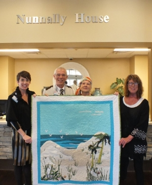 Linda Starratt and Brenda Walker present coastal scene quilt