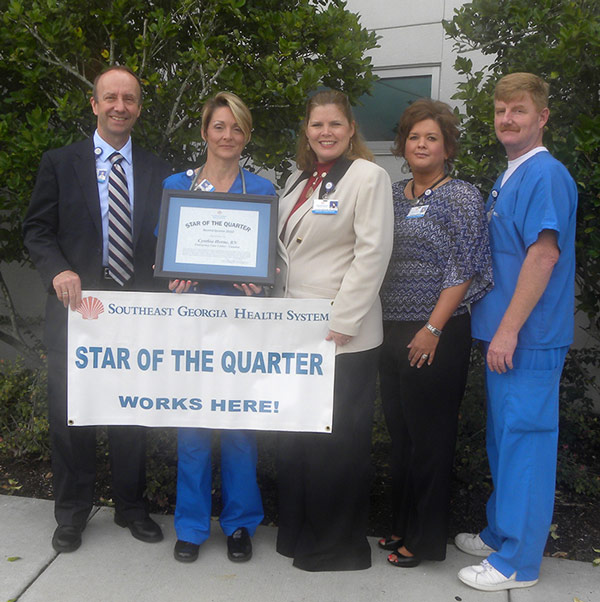 Cynthia Horne Receiving Star of the Quarter