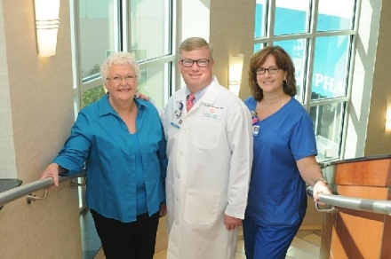 Martha Strayer, Vincent K. Arlauskas, M.D., and Laura Wiggins